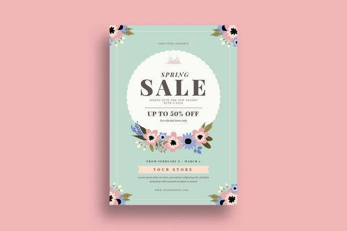 Cover Image For Spring Sale Event Flyer