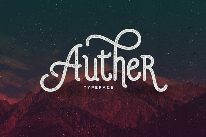 Thumbnail for Auther Typeface