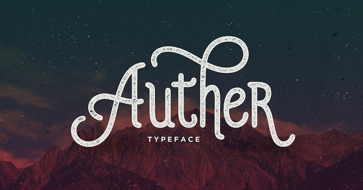 Download Auther Typeface by Seniors_Studio