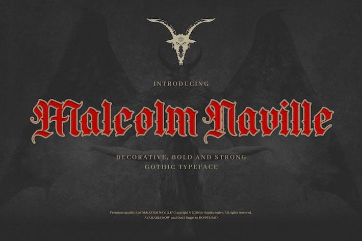 Thumbnail for Malcolm Naville - Lettre noire gothique vintage