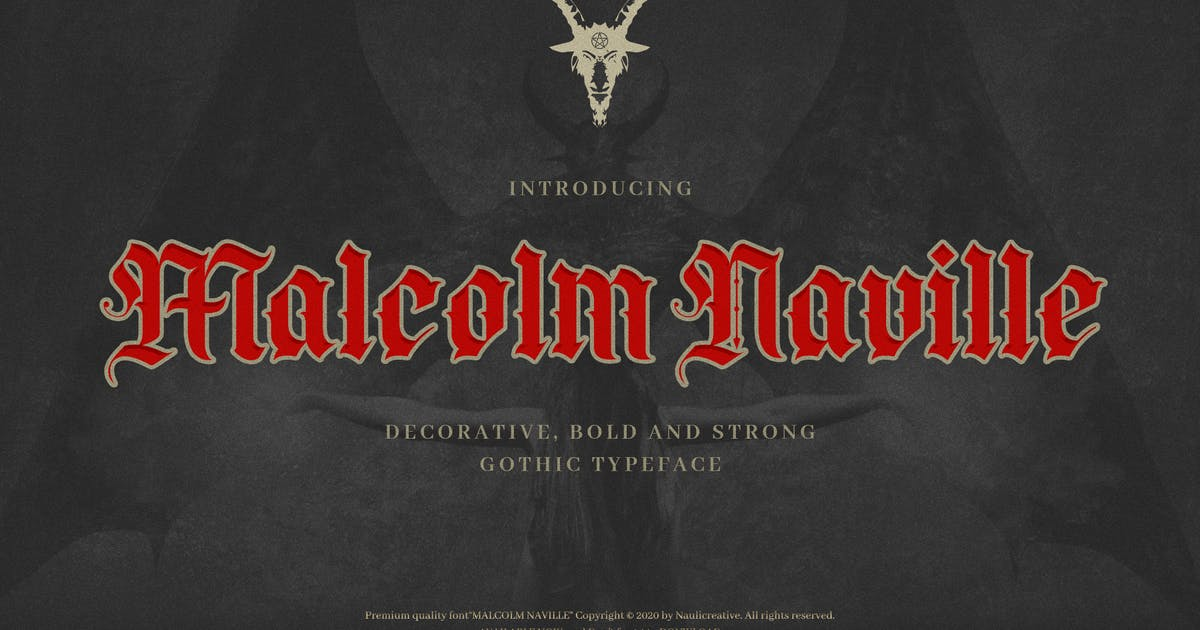 Download Malcolm Naville - Vintage Gothic Blackletter by naulicrea