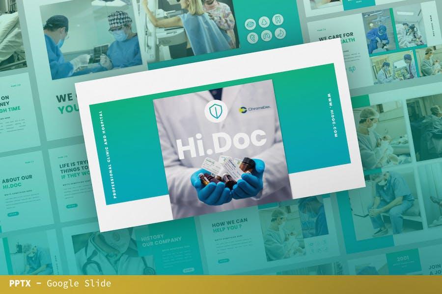 Hi.Doc Шаблон презентации слайдов Google