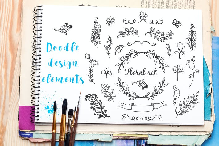 Cover Image For Doodle Nature Design Elements