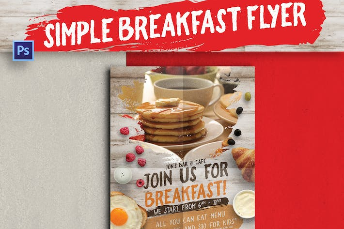 Thumbnail for Simple Breakfast Flyer