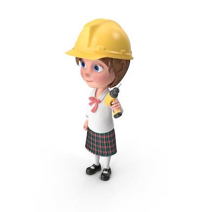 Cartoon Girl Meghan Worker