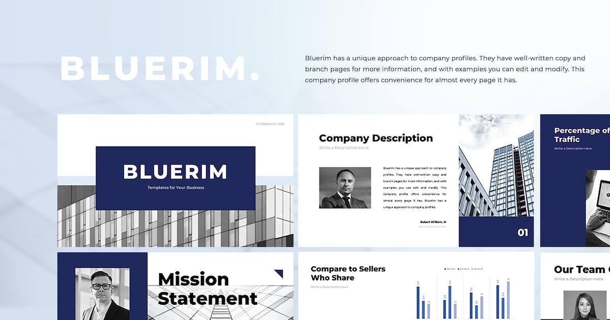 Download Bluerim Business PowerPoint Templates by Cotbada-studio