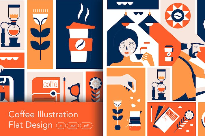 Thumbnail for Coffee Illustration Artwork Clipart