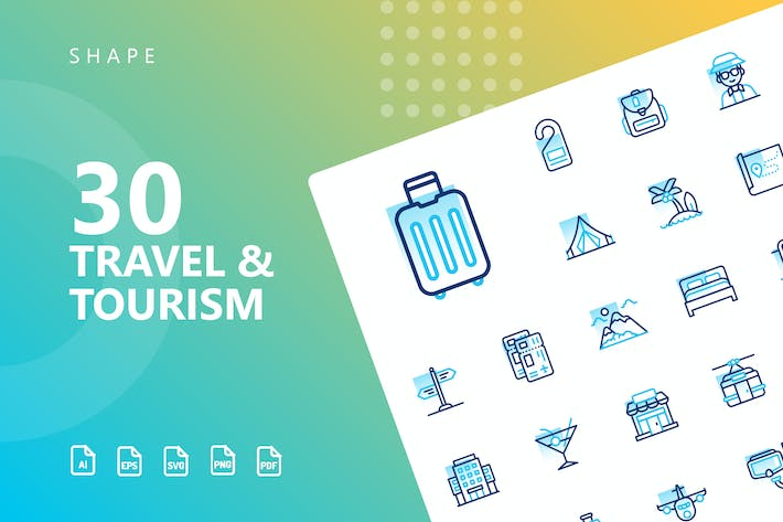 Thumbnail for Travel & Tourism Shape Icons