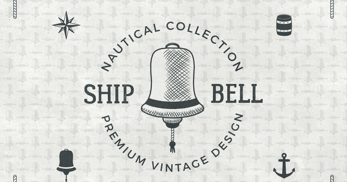 Download Vintage Nautical Logo / Retro Badge Collection by JeksonJS