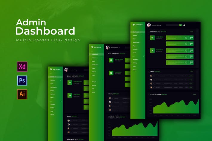 Thumbnail for AimBoted Dashboard | Admin Template