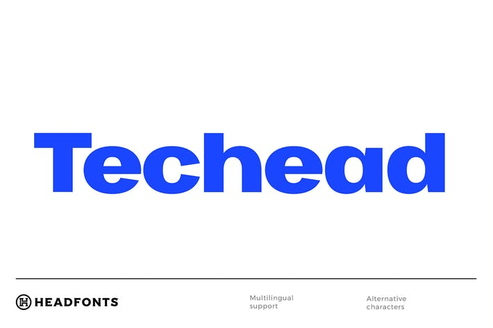 Thumbnail for Techead Typeface|Font For Technology Startup