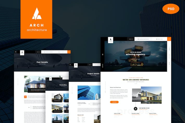 Thumbnail for Arch - Multipurpose Onepage PSD Template