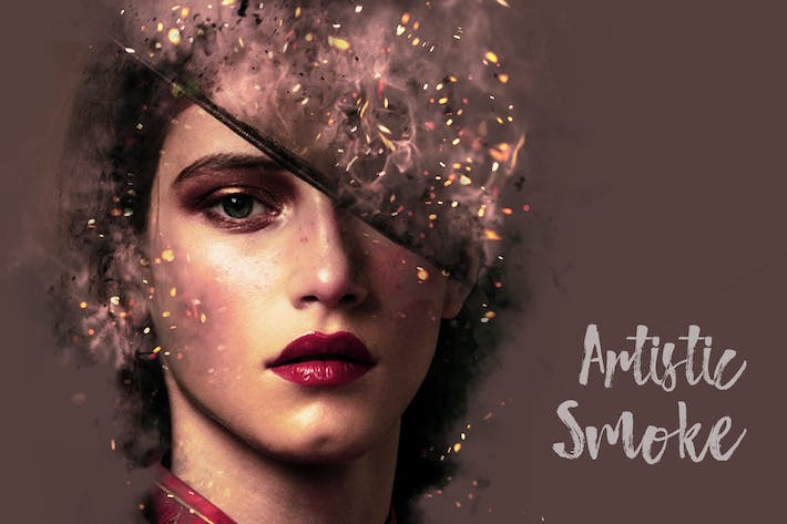 Thumbnail for Artistic Smoke Portrait Psd Photo Effect Templates
