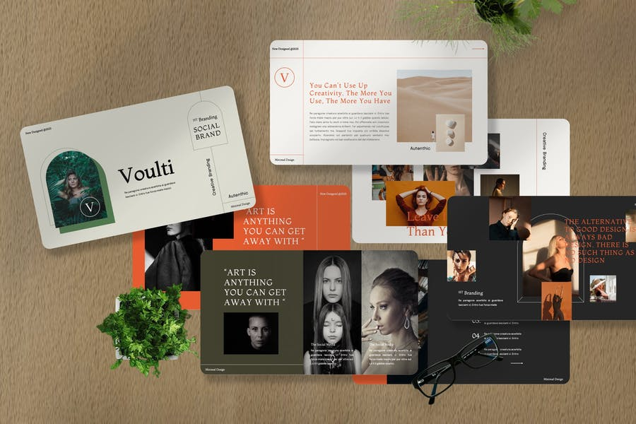 Voulti - Brand Social Media Googleslide Template