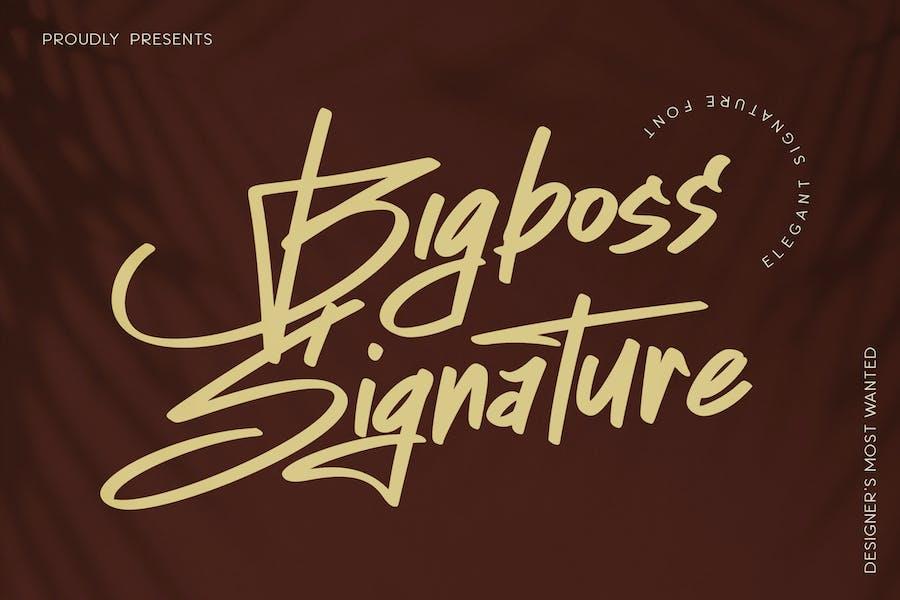 Police de script Bigboss Signature Business