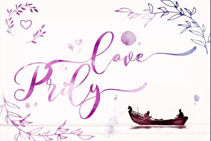 Любовь Prilly - Валентина сценарий шрифт