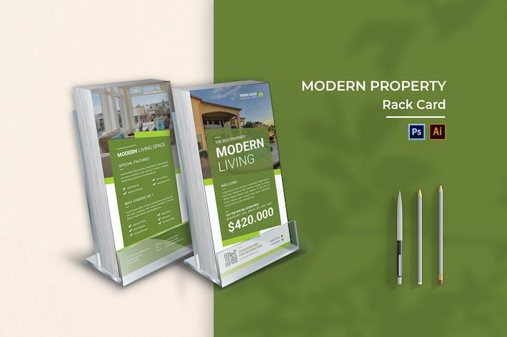 Thumbnail for Modern Property Rack Card Brochure