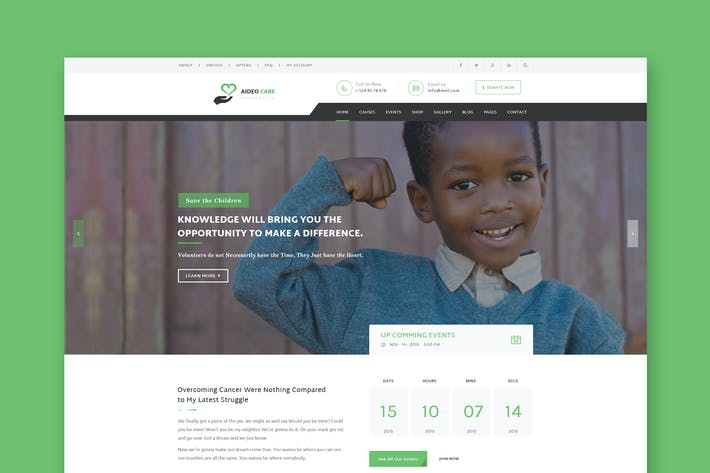 Thumbnail for Aideo - Non-Profil Charity HTML Template