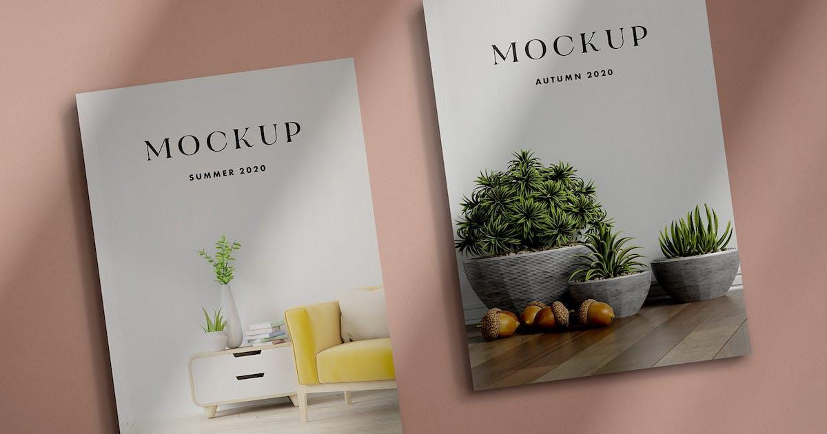Download Magazine Mockup Scenes by pixelbuddha_graphic