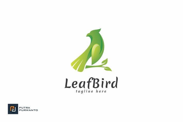 Thumbnail for Leaf Bird - Logo Template