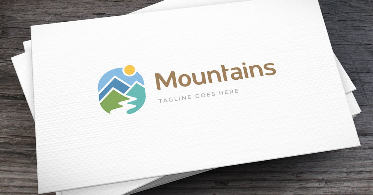 Download Mountains Logo Template by empativo