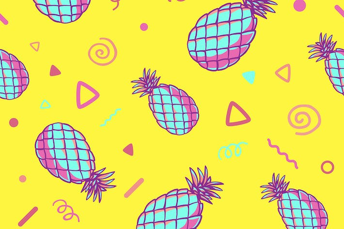 Cover Image For Three fashionable patterns with pineapples
