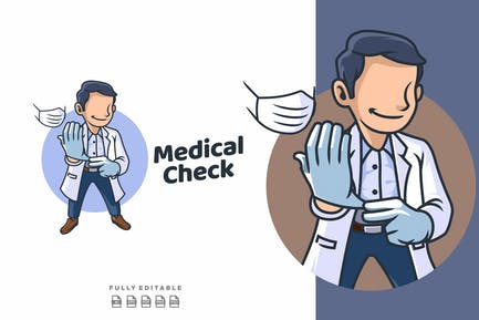 Doctor Medical and Healthcare Mascot Logo