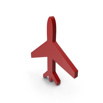 Plane Symbol Red