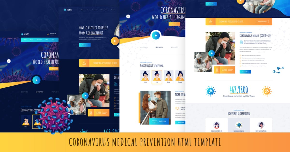 Download Vimns - Coronavirus Medical Prevention HTML by Layerdrops