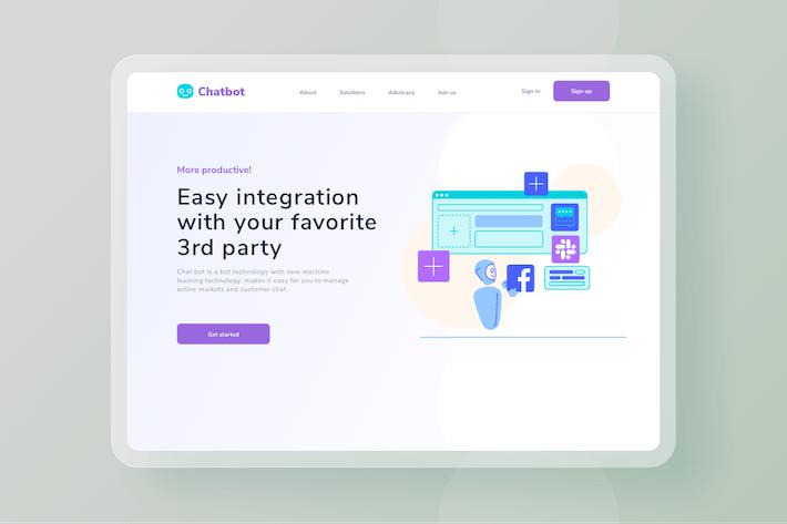 Easy integration software website Illustration