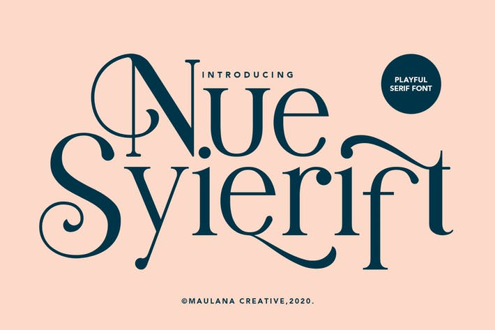 Thumbnail for Nue Syierift - Playful Serif Font