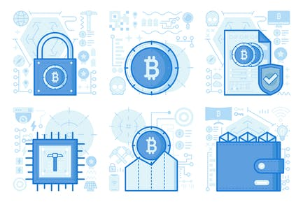Bitcoin Graph UI UX Illustrations