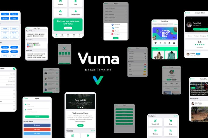 Thumbnail for Vuma - Plantilla Móvil