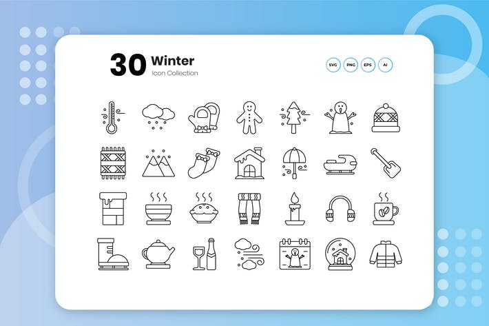 Thumbnail for 30 Winter Outline Icon