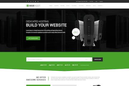 MaxHost - Professional Web Hosting Template
