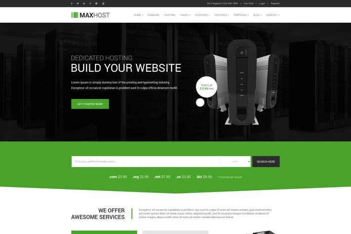 Thumbnail for MaxHost - Professional Web Hosting Template