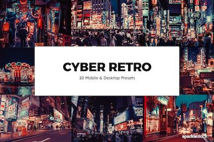 20 Cyber Retro Lightroom Presets & LUTs