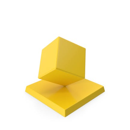 Cube Trophy Yellow