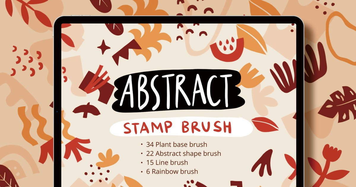 Download Procreate Abstract Shape Stamp Brushset by Heyapriliaa
