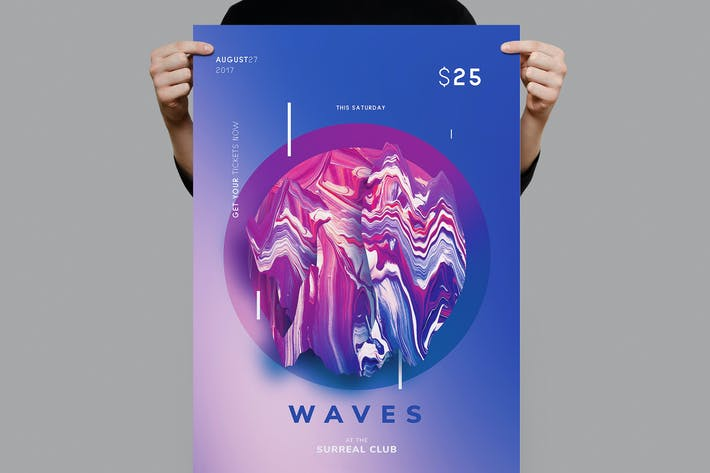 Thumbnail for Waves Flyer / Poster Template
