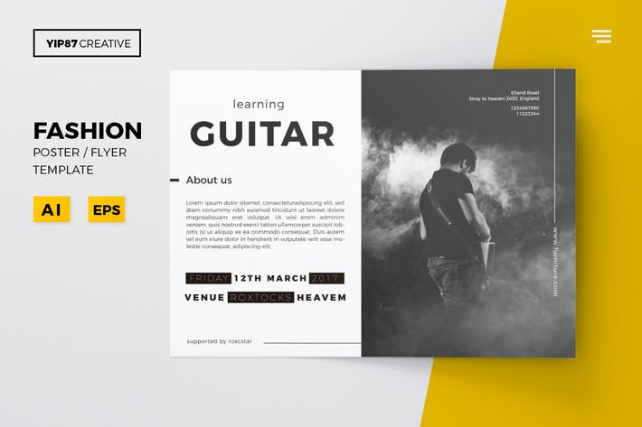 Thumbnail for Guitar Lesson Flyer
