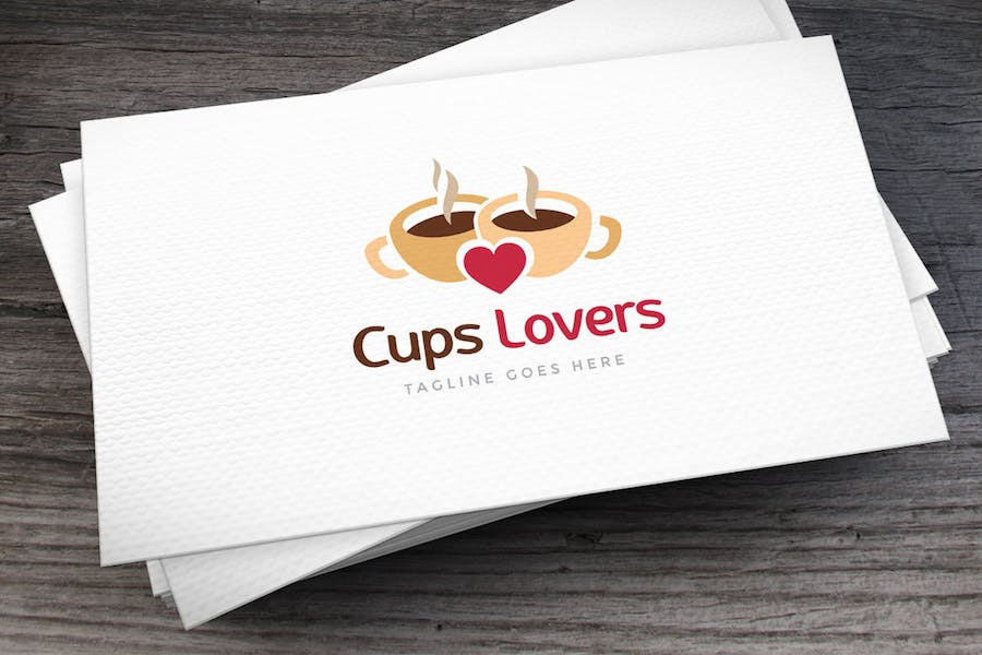 Cups Lovers Logo Template
