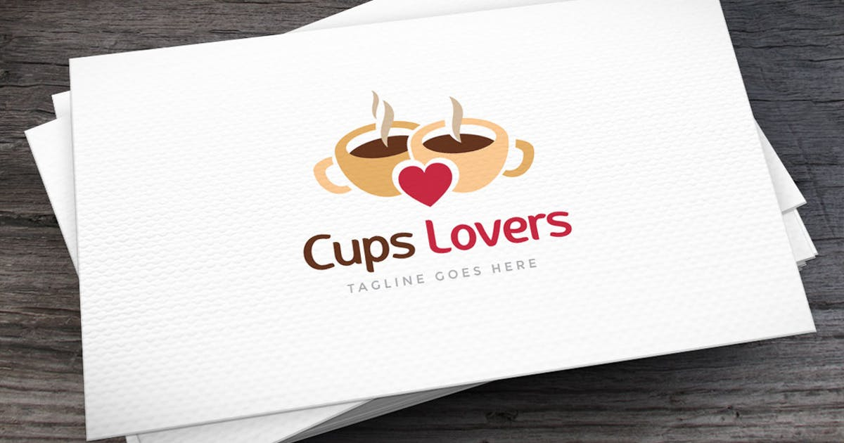 Download Cups Lovers Logo Template by empativo