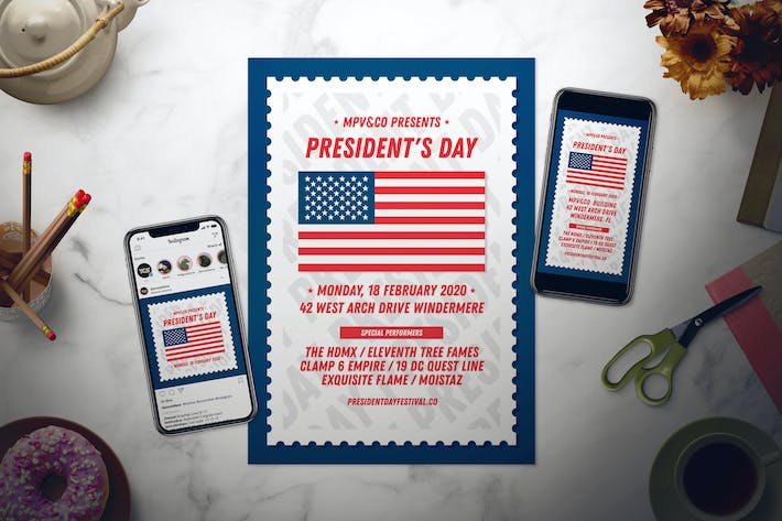 Thumbnail for President's Day Flyer Set