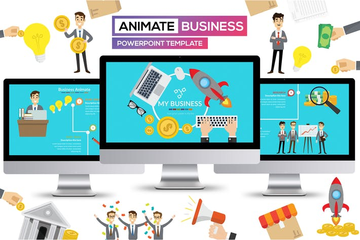 Thumbnail for Business Animate Powerpoint Presentation