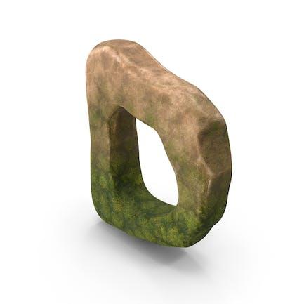 D Letter Mossy Rock