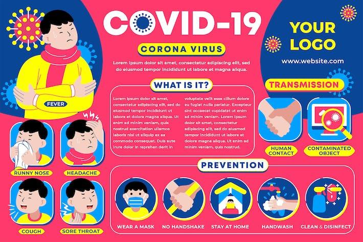 Thumbnail for Coronavirus Pandemic Infographic