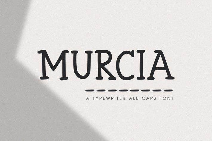 Thumbnail for Murcia - The Typewriter All Caps Font