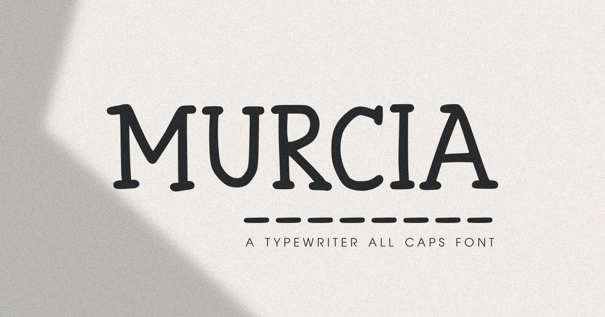 Download Murcia - The Typewriter All Caps Font by Graphicfresh