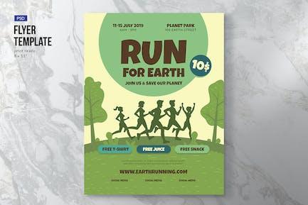 Earth Run Flyer Template